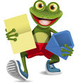 Frog with a letter vector