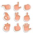 Hand gestures icon set 2 vector
