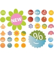 20 cute pink green stickers vector