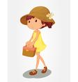 Basket girl vector