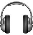 Isolated metallic headphones vector
