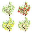 Stylized fruit trees2 vector