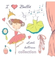 Ballerina and accessories vector
