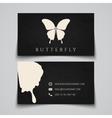 Business card template butterfly logo vector