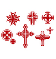 Religious crosses vector