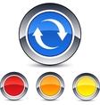 Refresh round button vector