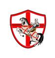 English knight rider horse england flag retro vector