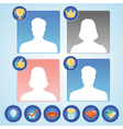 Set with achievement and awards badges for social vector