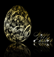 Abstract golden easter egg vector
