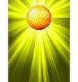 Sparkling disco ball background vector