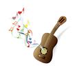 Classical guitar brown vector