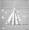 Christmas tree on wood background vector