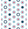 Dotted seamless pattern in aqua colors palette vector