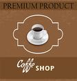 Menu for coffee in vintage vector