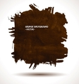 Brown grunge shape vector