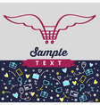 Logos symbols and background for online shopping vector