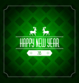 Happy new year 2015 greeting card template - green vector