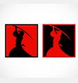 Samurai sword japan abstract logo vector