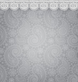 Patterned background with lace vector