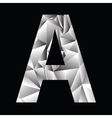 Crystal letter a vector