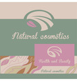 Logo natural cosmetics banner and badge the color vector