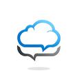 Cloud talk icon logo vector