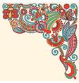 Original hand draw ornate floral background vector