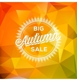Autumn sale poster polygonal background vector