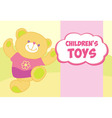 Banner with a teddy bear template for advertising vector