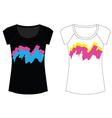 Abstract paint woman t shirt vector