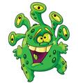 Funny green monster vector
