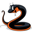 Black snake cartoon vector