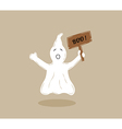 Ghost with wooden table vector