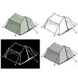 Touristic tent vector