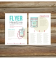 Abstract brochure flyer design online payment vector