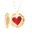 Heart pendant vector