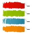 Paint roller strokes vector