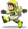 A happy astronaut vector
