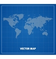 World map on blueprint vector