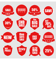 Set of sale icons design elements vector