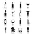Alcohol icons black vector