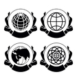 Set of emblems globes vector