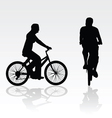 Recreation on bike silhouette vector