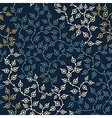 Colored seamless pattern with leaf in blue vector