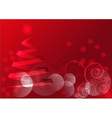 Red christmas motif vector