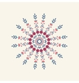 Abstract round floral ornament vector