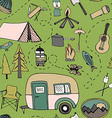 Camping pattern vector