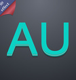 Australia icon symbol 3d style trendy modern vector