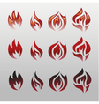 Icons flames fire vector