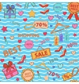 Pattern on shopping themed design with different vector
